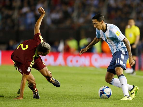 Destaque do primeiro tempo, Di María saiu com lesão na coxa esquerda (Foto: Gabriel Rossi/Getty Images)