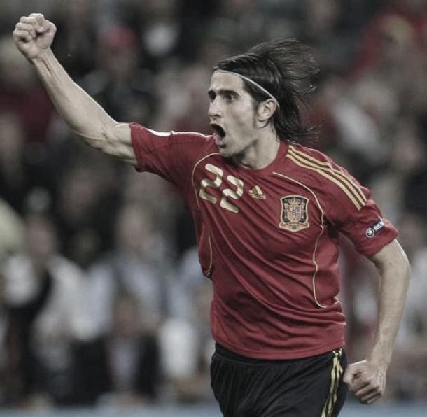 Rubén de la Red celebra su gol ante Grecia en la Eurocopa / Fuente: EFE