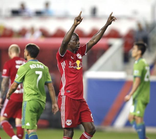 Wright-Phillips tras el gol. // Imagen: MLSsoccer