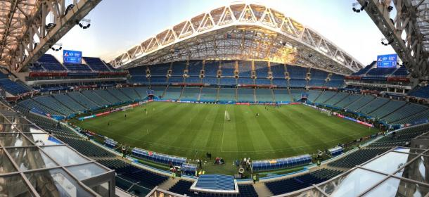 El Fisht Stadium, un estadio para 48,000 espectadores.
