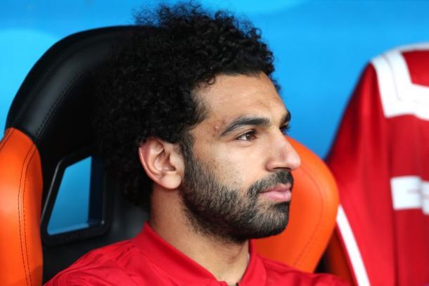 Mohamed Salah en el banquillo de Egipto | @SC_ESPN en Twitter