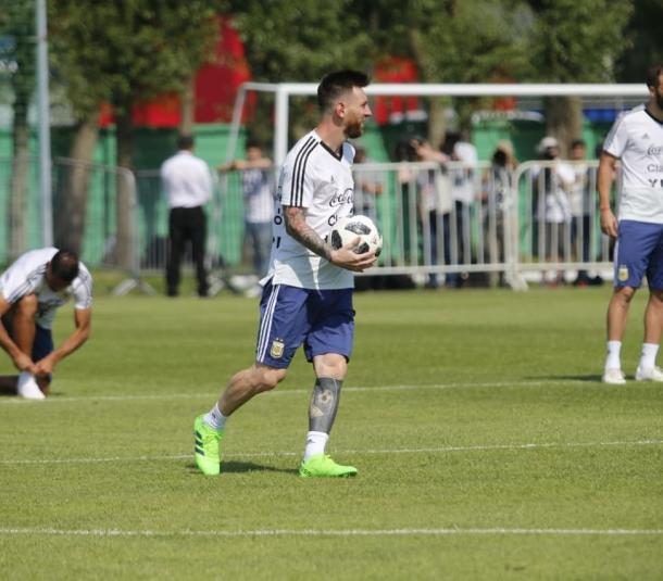 Messi se prepara para el duelo contra Francia. Foto: @Argentina
