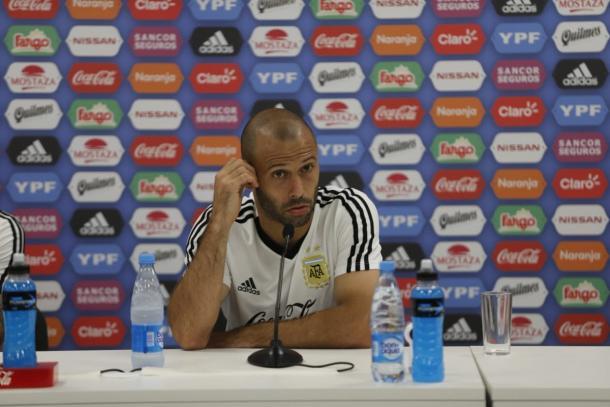 El 'Jefecito' en conferencia de prensa | Foto: @Argentina