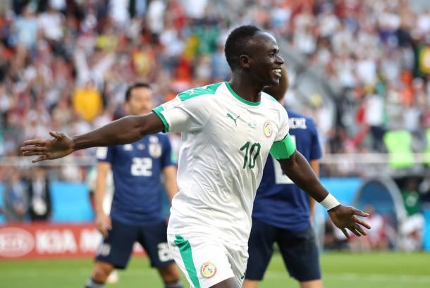 Sadio Mané esulta per il suo goal contro il Giappone | Photo: profilo Twitter Champions League