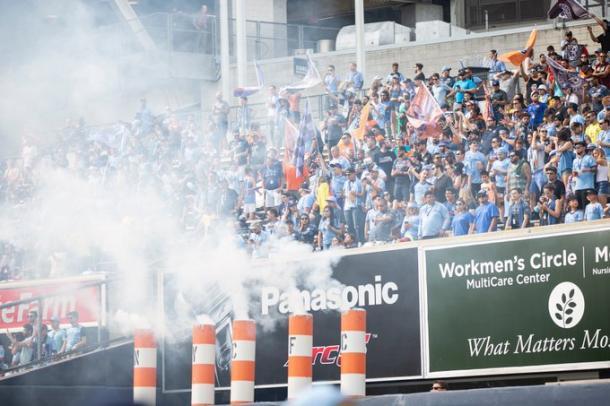 Yankee stadium disfrutando la victoria. // Imagen: MLSsoccer