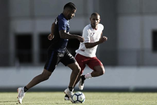 Aguirre foi um dos destaques da atividade contra o América-RJ. Foto: Vitor Silva/SSPress/Botafogo