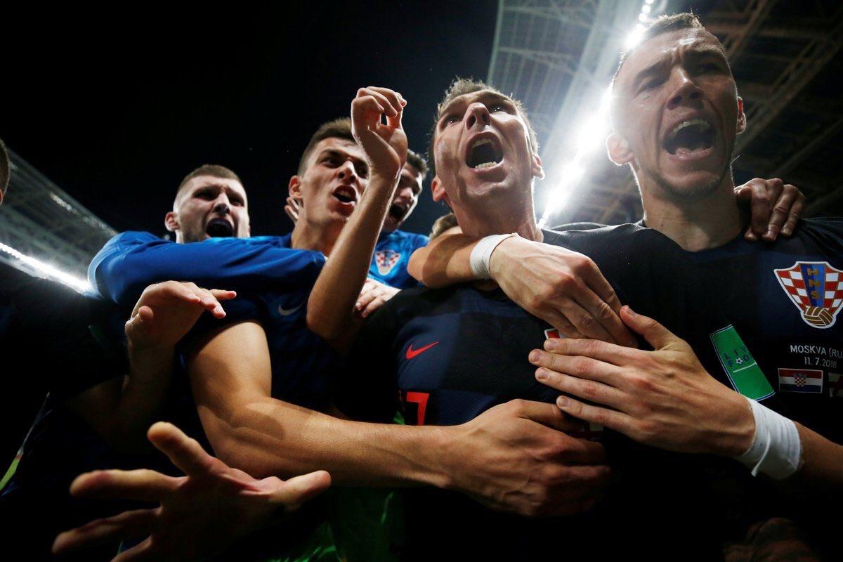 Celebración de la selección croata tras la eliminación de Inglaterra en el Mundial de Rusia 2018 / Foto: Croacia