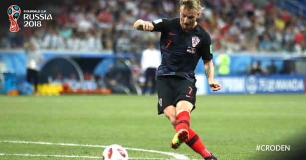 Ivan Rakitić ante Dinamarca | Foto: Fifa World Cup (Twitter)