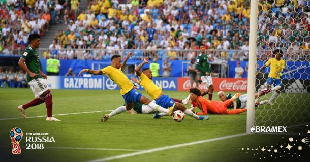 Neymar marcando primeiro gol da partida ( Divulgação/FIFA