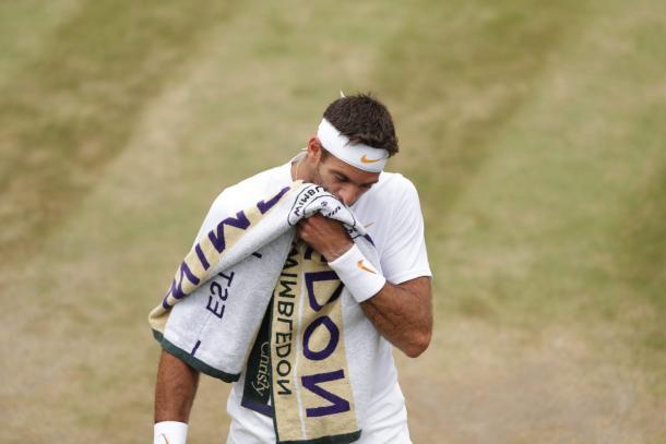 del Potro - Fonte: @Wimbledon/ Twitter.