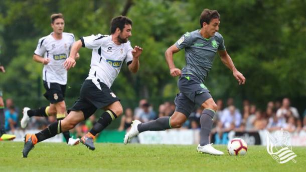 Oyarzabal durante el partido. | Foto: Real Sociedad