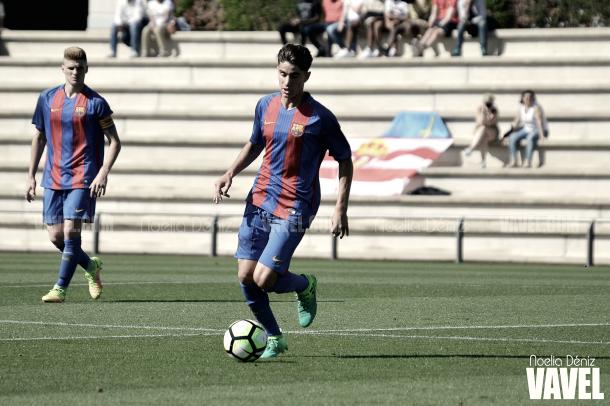 Collado contra el Sporting en el partido de ida de los octavos de final de la Copa del Rey 2016/17 | Foto de Noelia Déniz, VAVEL
