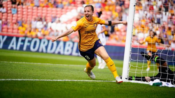 Amy Rodriguez put Utah ahead in the eighth minute | Source: utahroyalsfc.com