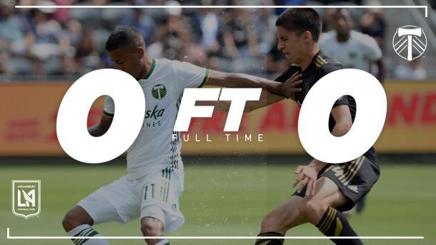 Resultado LAFC - Portland Timbers. Fuente: MLS