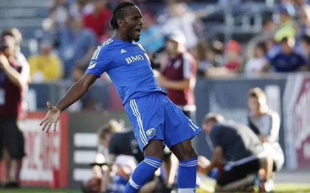 Didier Drogba celebrating his goal against the Colorado Rapids in October of 2015. Photo credits: David Zalubowski / AP Photo