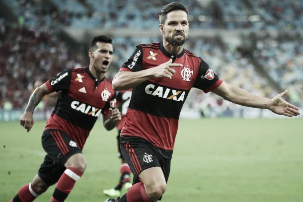 Diego incendiou o clássico com o empate (Foto: Gilvan de Souza/Flamengo)