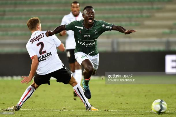 Diousse seriously impressed on his competitive debut for Saint-Etienne. Source - Getty Images.