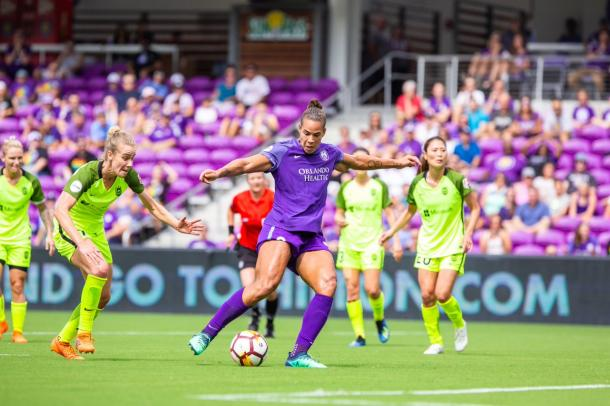 Toni Pressley gets her first goal of the season | Photo: Orlando Pride on Twitter