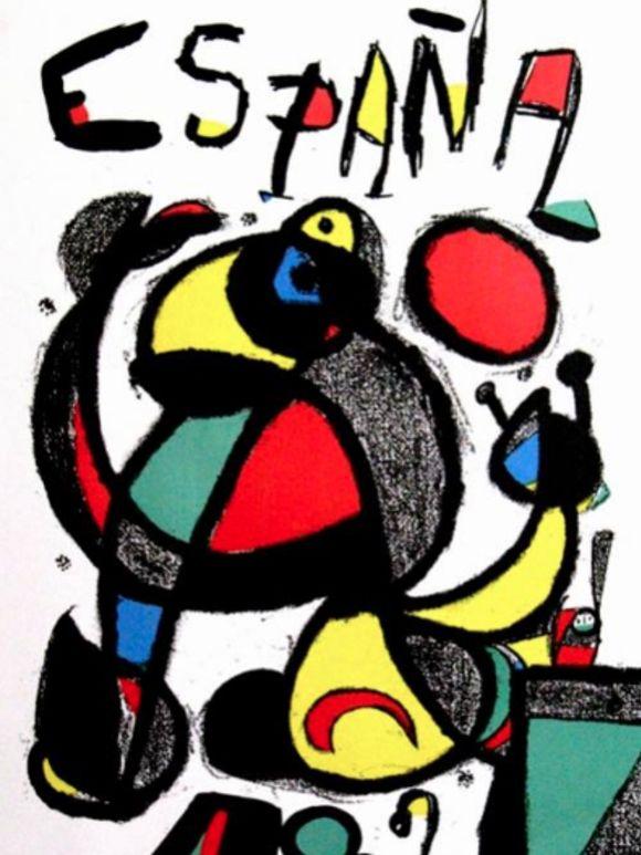 Cartel Joan Miro para el Mundial de Espana 82 (Foto : es.fifa.com)