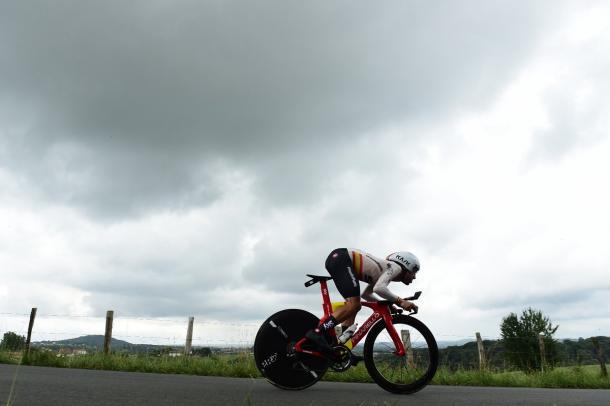 Jonathan Castroviejo campeón español no tuvo su día. Foto: @LeTour.