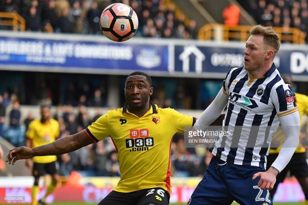 Brice Dja Djedje made his only start in an FA Cup clash with Millwall in 2017. Source | Getty Images / Ben Stansall.