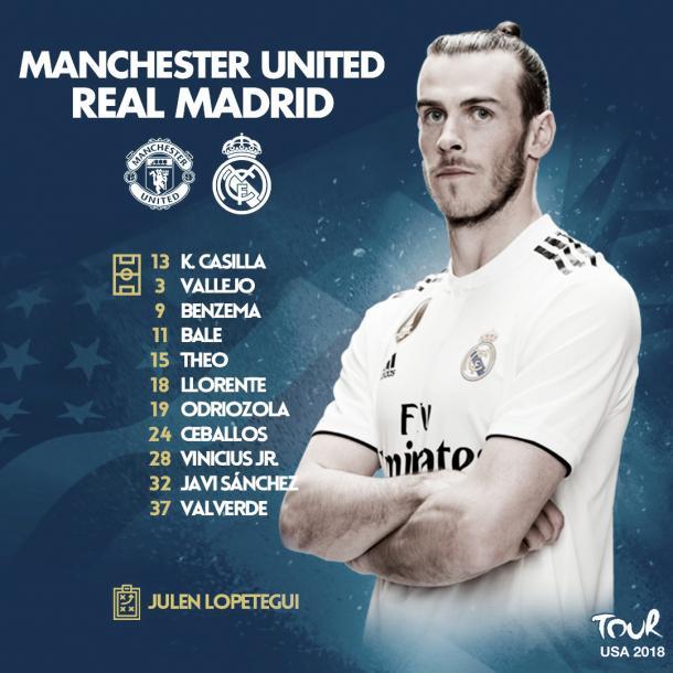 Once inicial de Julen Lopetegui   Foto: Real Madrid C.F.