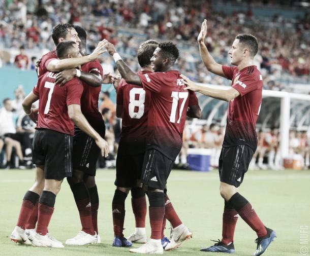 Festejo del segundo gol rojo   Foto: Manchester United