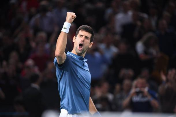 Novak Djokovic is back to number one on Monday. Photo: BNP Paribas Masters