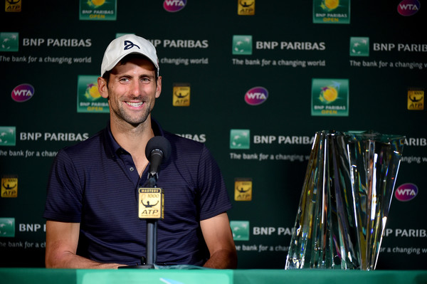 Novak Djokovic made his comments after winning the BNP Paribas Open. Photo: Harry How/Getty Images