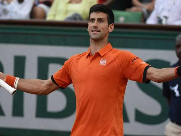 Djokovic expresses his frustration during his semifinal last year in Paris. Photo: AFP