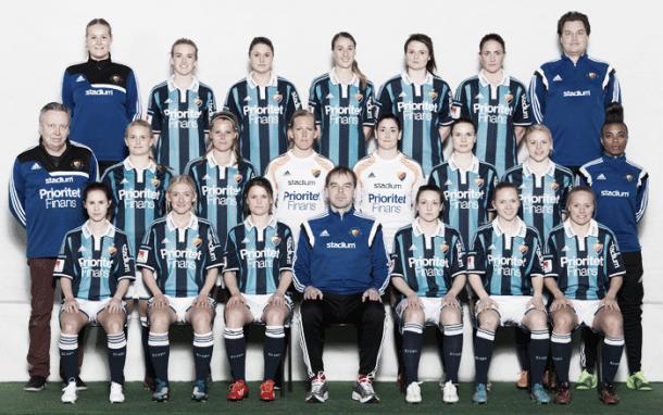 Djurgårdens team for the 2016 season. Source: dif.se/damer/