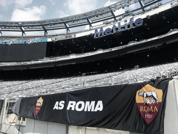 El estadio, preparado en el lado de la Roma   Foto: Twitter MetLife Stadium