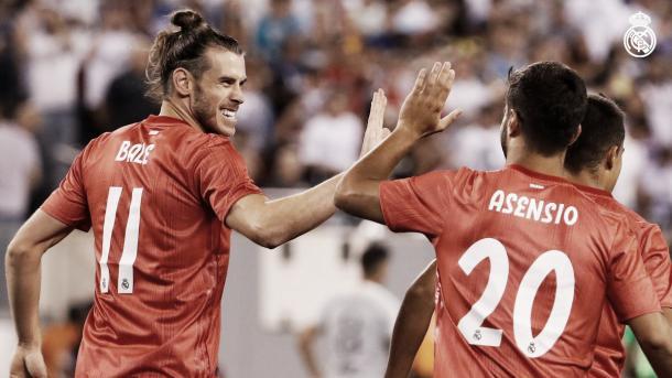 Bale y Asensio festejan los goles para el Madrid   Foto: Real Madrid C.F.