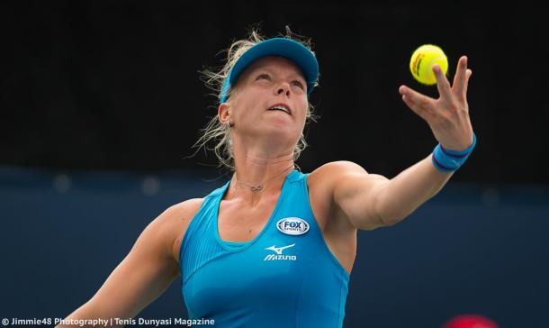 Kiki Bertens' serves were firing in the opening set today | Photo: Jimmie48 Tennis Photography