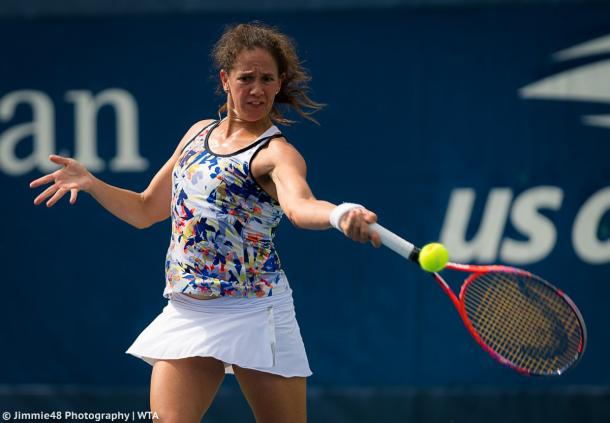Patty Schnyder in action during the qualifying rounds | Photo: Jimmie48 Tennis Photography