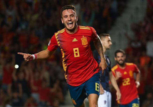 Saúl Ñíguez, anotó dos tantos con la selección española en la reciente fecha FIFA   Foto: UEFA