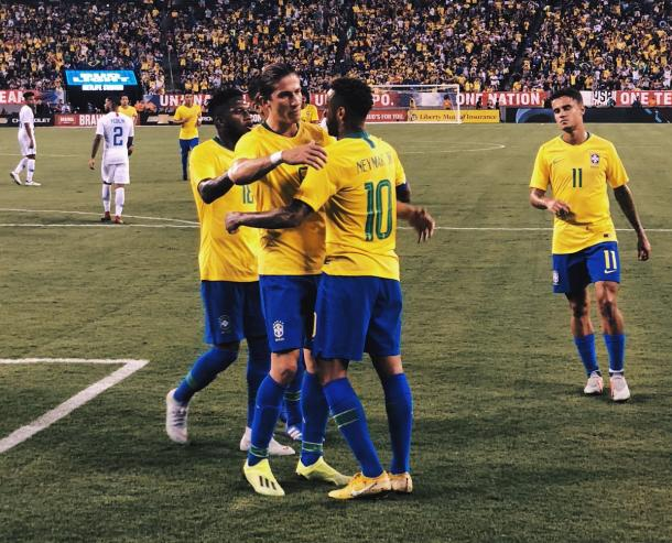 La pentacampeona mundial celebrando la victoria parcial | Foto: MLS