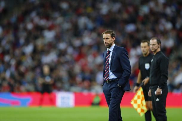 Gareth Southgate preocupado tras la pálida imagen de los tres leones | Foto: The FA