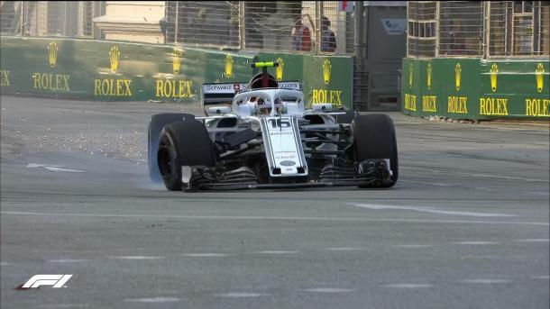 Leclerc en los Libres 1 de Singapur | Foto: @F1