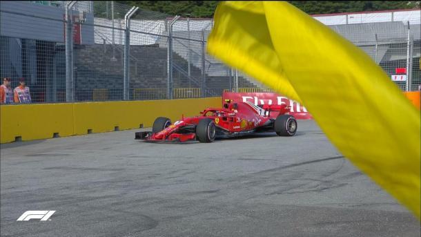 Räikkönen en los Libres 1 de Singapur | Foto: @F1