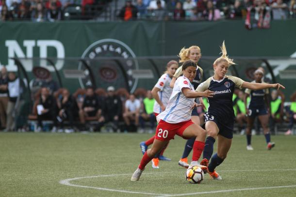 Sam Kerr could not find the back of the net this time around | Source: chicagoredstars.com