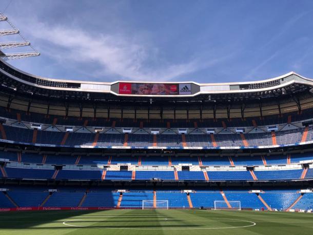 El Santiago Bernabéu en la tarde de hoy | Foto: Realmadrid.com