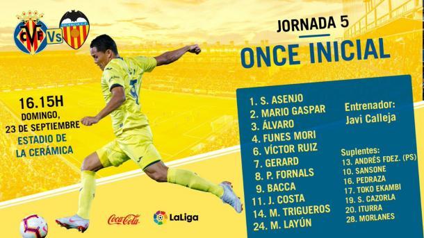 Once Villarreal / Foto: Twitter @villarrealcf