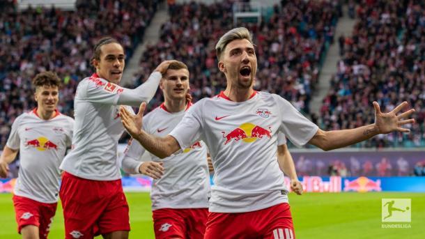 (RB Leipzig 6-0 Núremberg   Foto: @Bundesliga_EN)
