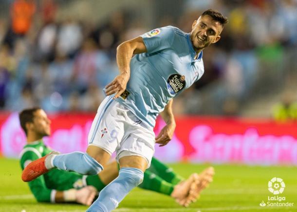 Maxi Gómez en el partido ante el Getafe | Foto: La Liga