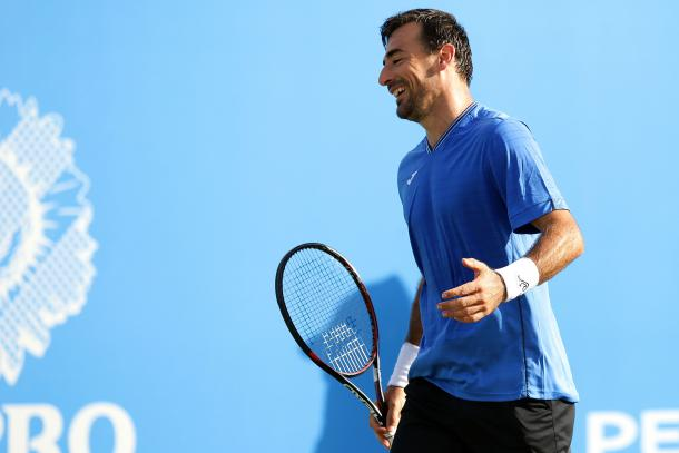 Dodig dug deep, but it wasn't to be for the Croat. Photo: Getty