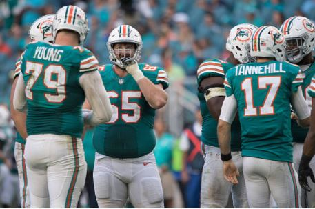 Looks like everyone is picking the Miami Dolphins to be the biggest challenger to the New England Patriots this season in the AFC East | Source: Robin Alam - Icon Sportswire via Getty Images