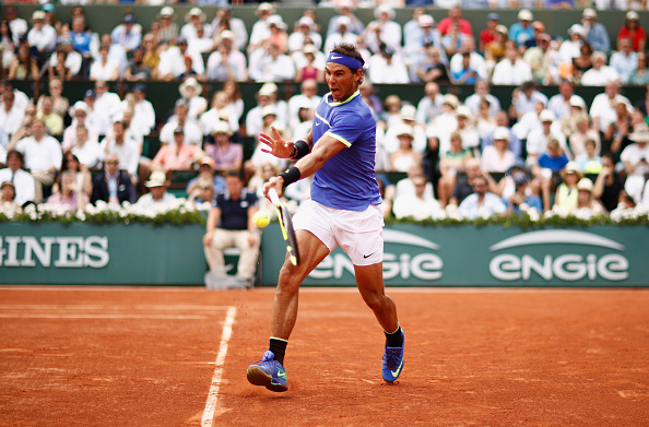 Rafael Nadal strikes a forehand (Photo: Adam Pretty/Getty Images)