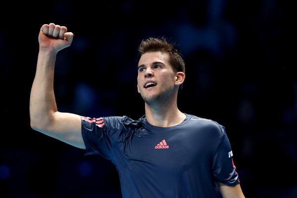 Thiem celebrates a point (Photo by Julian Finney/Getty Images)