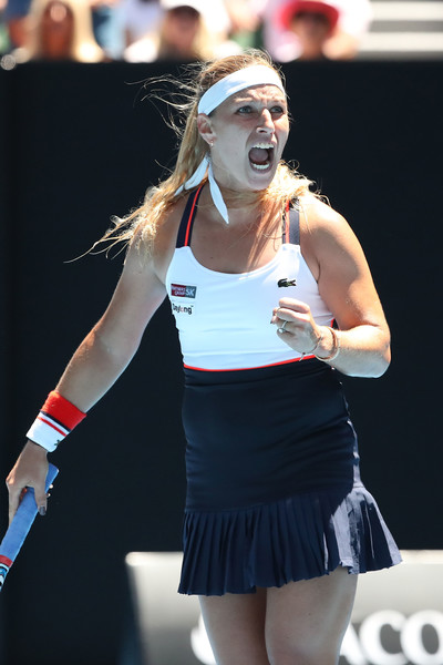 Cibulkova celebrates winning the second set after making a huge comeback | Photo: Scott Barbour/Getty Images AsiaPac
